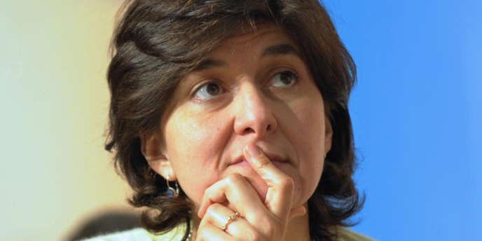 L'eurodéputée Sylvie Goulard, rapporteure de la réforme du pacte de stabilité, à Paris en février 2009.