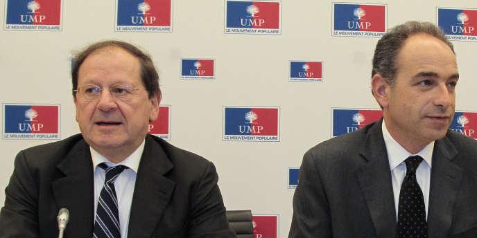 Hervé Novelli et Jean-François Copé, en novembre 2010.