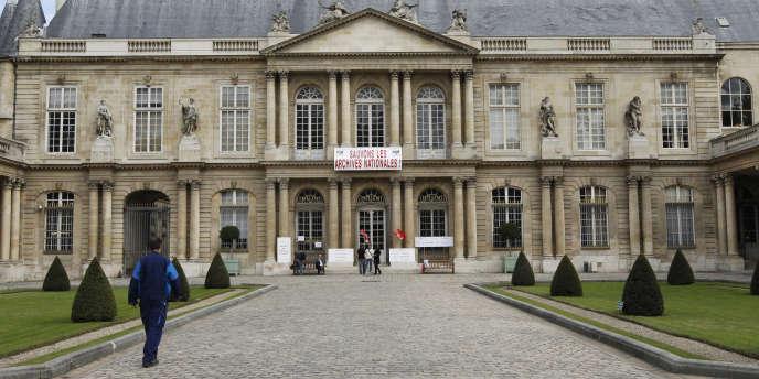 L'Hôtel de Soubise à Paris, siège des Archives nationales, en septembre 2010.