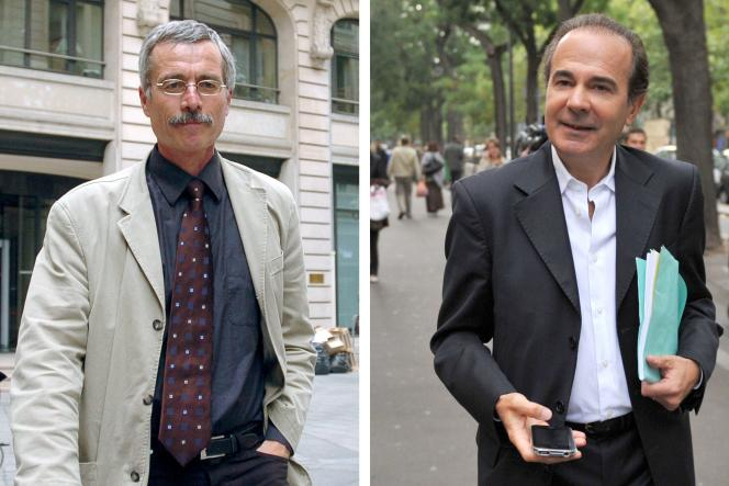 Les juges Renaud Van Ruymbeke et Roger Le Loire.