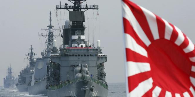 Un navire japonais dans la baie de Sagami, en octobre 2006.