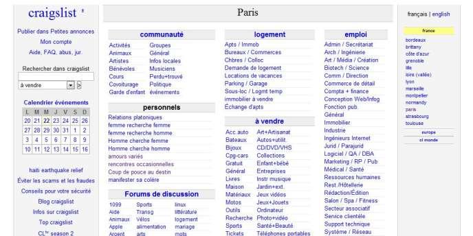 Aux Etats-Unis, le site Craigslist avait retiré, le 3 septembre, ses annonces