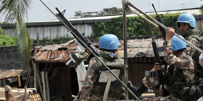 L'Onuci dispose de 12 000 soldats en Côte d'Ivoire.