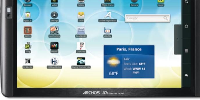 Une tablette tactile conçue par Archos.