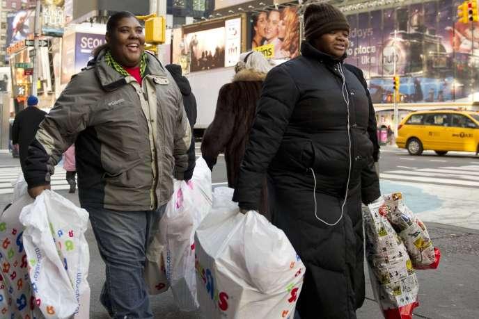 A New-York, le 17 décembre, au moment des achats de Noël.