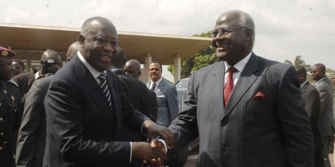 Laurent Gbagbo et le président de la Sierra Leone, Ernest Bai Koroma, mardi 28 décembre.