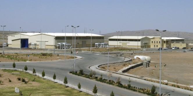 Vue de l'entrée de l'usine de Natanz, à 250 km au sud de Téhéran.