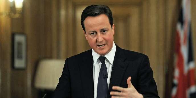 David Cameron à Londres, le 21 décembre 2010.