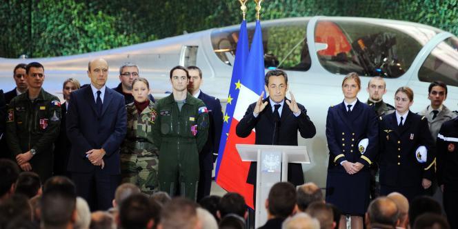 Les vœux du président de la République, Nicolas Sarkozy, aux forces armées, mardi 4 janvier, à Saint-Dizier (Haute-Marne).