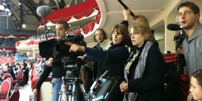 Une scène du tournage du film de Patricia Mazuy,