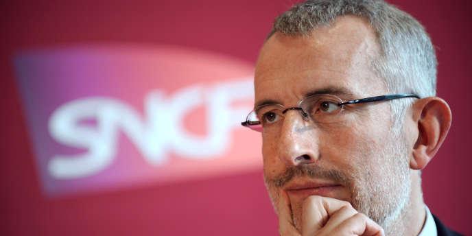Le président de la SNCF, Guillaume Pepy, en février 2010.