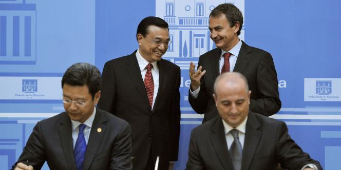 La Chine et l'Espagne ont signé des accords industriels et commerciaux pour 5,6 milliards d'euros.