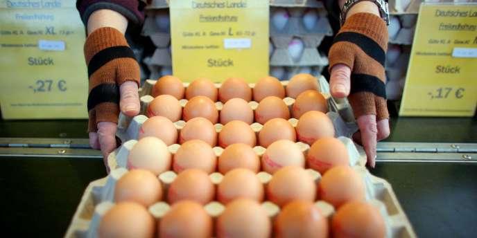 Des œufs sur un marché de Cologne, le 5 janvier 2011.