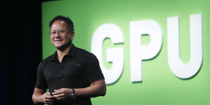 Jen-Hsun Huang, président de Nvidia, lors d'une conférence en septembre 2010 en Californie.