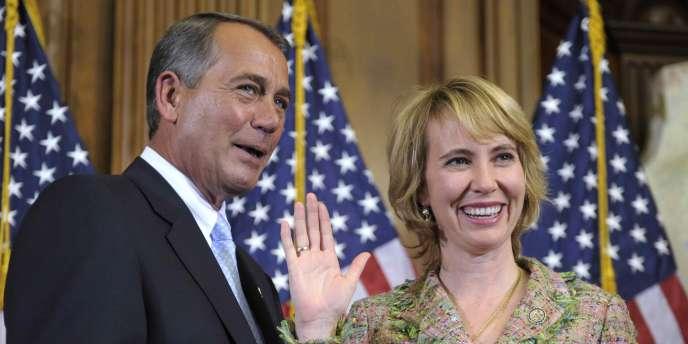 Gabrielle Giffords, âgée de 40 ans, était entrée au Congrès en janvier 2007.