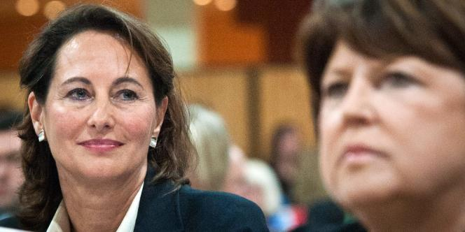 Ségolène Royal et Martine Aubry, en janvier.
