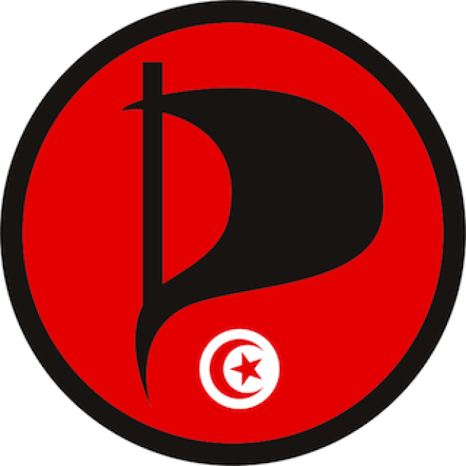 Le logo du Parti pirate tunisien.