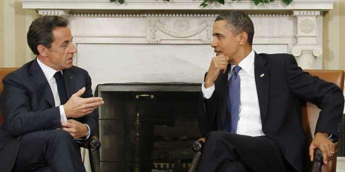 Nicolas Sarkozy est arrivé lundi 10 janvier à Washington pour s'entretenir avec son homologue américain Barack Obama.