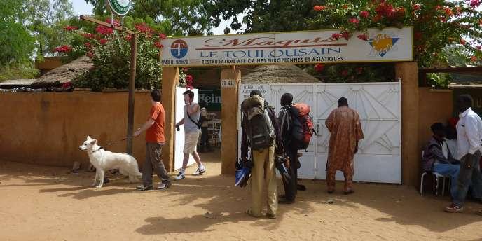 Antoine de Léocour et Vincent Delory ont été enlevés dans ce restaurant du centre de Niamey.