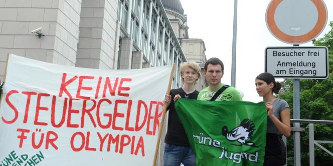 Manifestation contre les JO à Munich le 15 juillet.