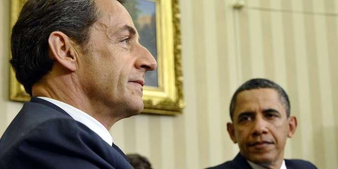Nicolas Sarkozy et Barack Obama, le 10 janvier 2011, à Washington.