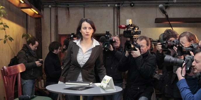 Cécile Duflot à Paris, le 12 janvier 2011.