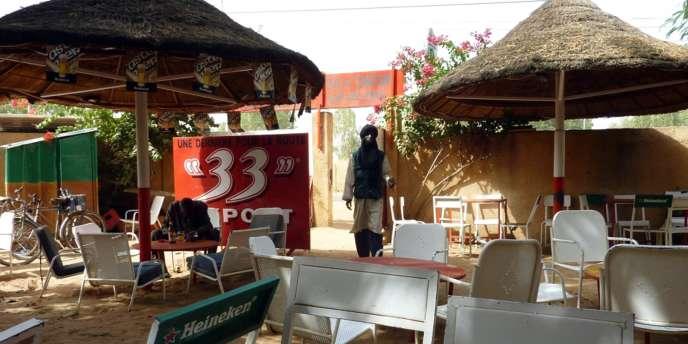Vue du Toulousain, le restaurant de Niamey où Antoine de Léocour et Vincent Delory ont été enlevés.