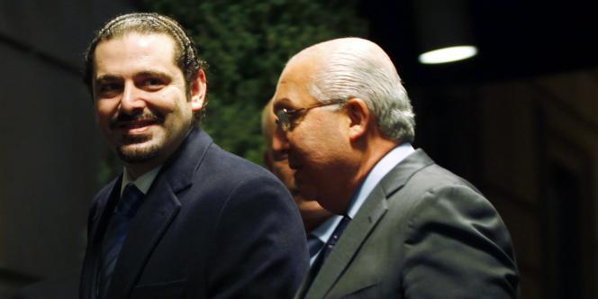 Saad Hariri et l'ambassadeur libanais à l'ONU à New York, le 7 janvier 2011.