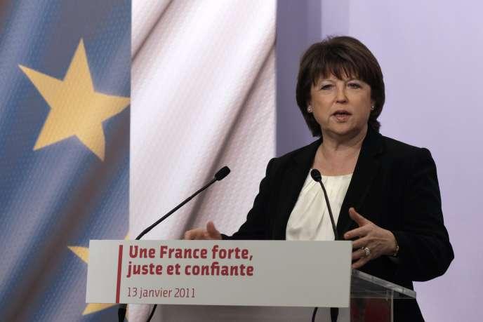 Martine Aubry a dénoncé mardi 18 janvier