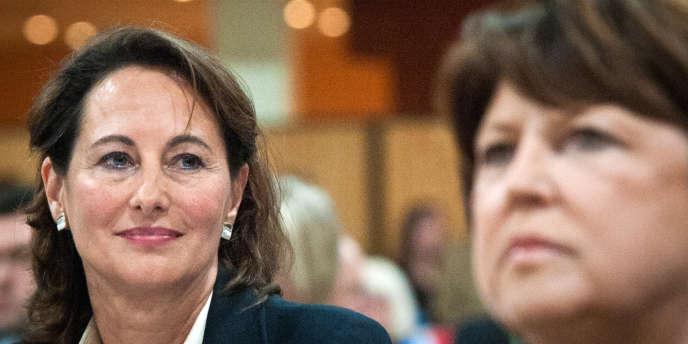 Martine Aubry et Ségolène Royal, le 8 janvier 2011 à Jarnac, pour les quinze ans de la mort de François Mitterrand.