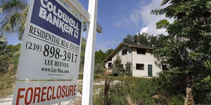 Maison saisie en Floride, en novembre 2010.