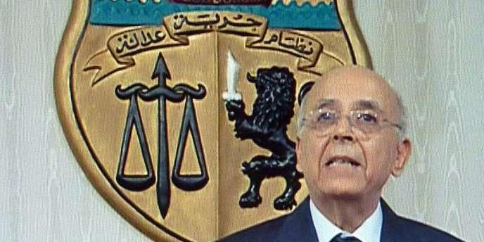 Le premier ministre, Mohamed Ghannouchi, nouveau président tunisien par intérim, vendredi 14 janvier.