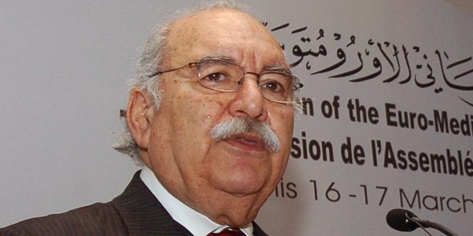 Le président du Parlement tunisien, Foued Mebazaa, en mars 2007.