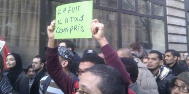 Dans le cortège parisien :