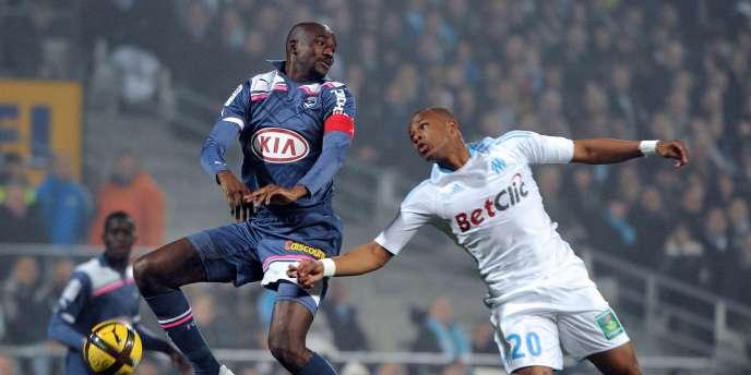 Alou Diarra (à gauche) pourrait retrouver le Marseillais André Ayew sur la Canebière.