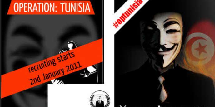 Anonymous, le collectif de militants, qui s'était fait connaître en harcelant l'Eglise de scientologie, puis en prenant la défense du créateur de WikiLeaks, Julian Assange, a lancé une vaste opération contre les sites officiels tunisiens.