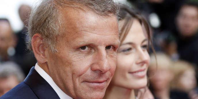 L'ex-présentateur vedette du 20 Heures avec Agathe Borne, le 18 mai 2008 à Cannes.