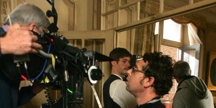 Sur le tournage d'une séquence du feuilleton