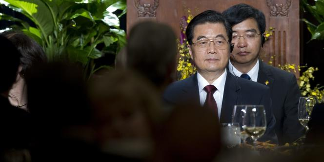 Le président chinois Hu Jintao lors d'un discours à Washington, le 20 janvier 2011.