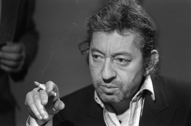 Portrait de Serge Gainsbourg, le 11 mars 1984, à Paris.