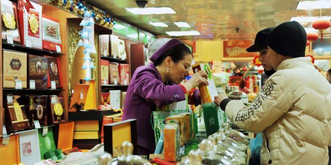 Vue d'un supermaché de Pékin, le 19 janvier 2011.