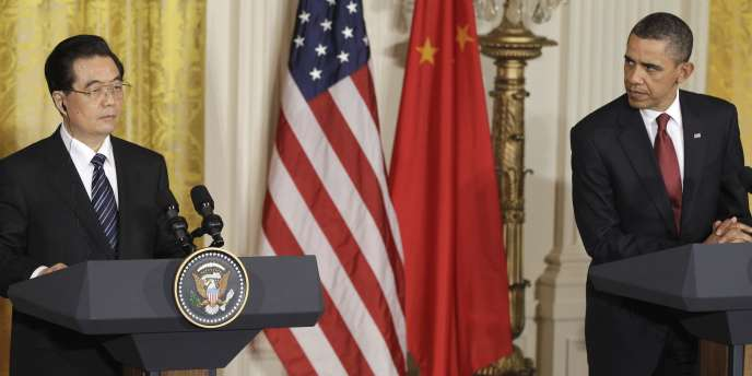 Barack Obama et Hu Jintao à Washington, le 19 janvier.