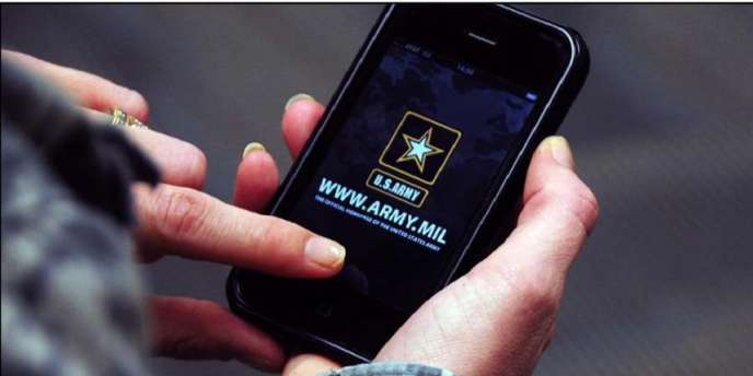 Une application de l'armée américaine, sur terminal mobile.