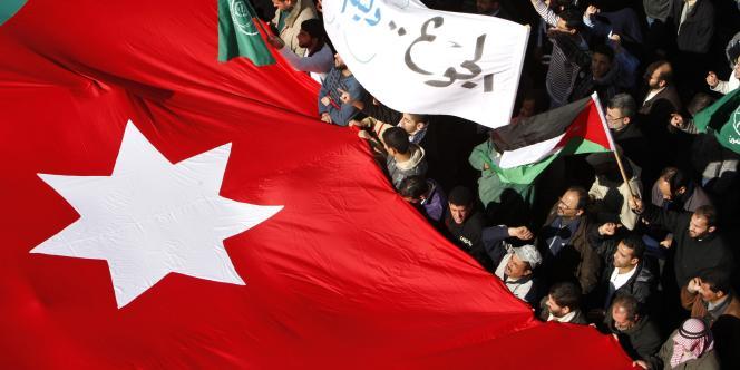 Une manifestation anti-gouvernementale à Amman (Jordanie), en janvier 2011.