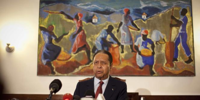 Jean-Claude Duvalier, le 21 janvier 2011, à Port-au-Prince.