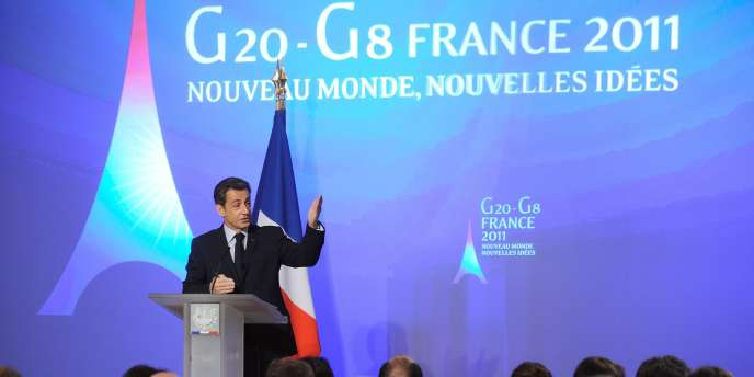 Devant la presse, le chef de l'Etat a évoqué les ambitions françaises pour la réunion des 20 pays les plus riches.