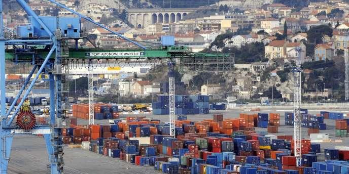 Le port autonome de Marseille-Fos en janvier 2011.