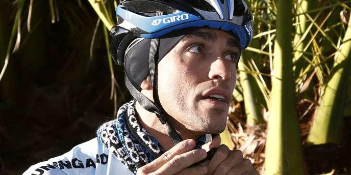 Alberto Contador à l'entrainement avec sa nouvelle équipe Saxo Bank, le 25 janvier à Majorque.