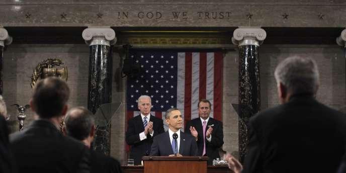 Barack Obama devant le Congrès des Etats-Unis, mardi 25 janvier.