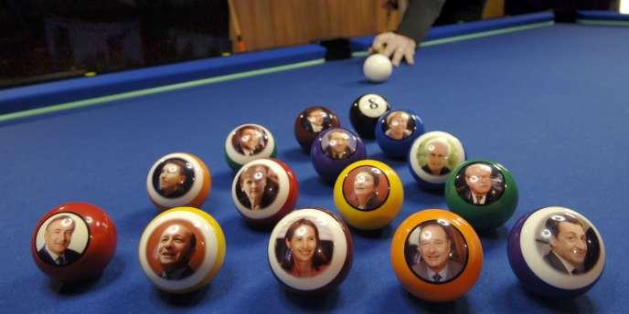 Avec Chevillotte, en 2006, la présidentielle française prend la forme d'un jeu de billard.